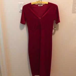 Zara red velvet dress